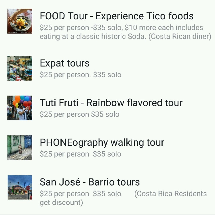 Scott's walking tours    –                                        San Jose, Costa Rica